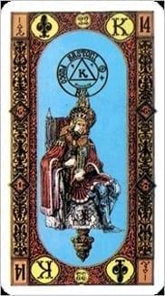 Карта Король Жезлов из колоды Ступени Золотого Таро