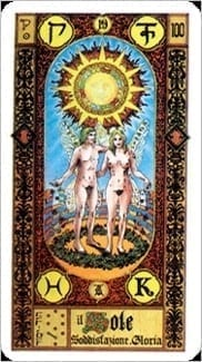 Карта Солнце из колоды Ступени Золотого Таро