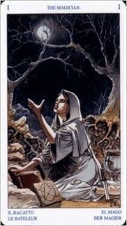Карта Маг из колоды Таро Белой и Черной магии
