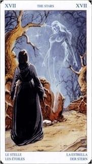 Карта Звезда из колоды Таро Белой и Черной магии