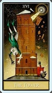 Карта Башня из колоды Таро Безумной Луны