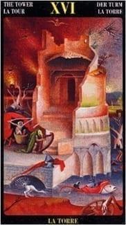Карта Башня из колоды Таро Босха