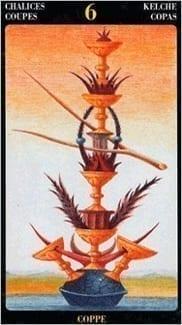 Карта Шестерка Чаш из колоды Таро Босха