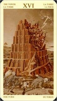 Карта Башня из колоды Таро Брейгеля