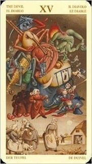 Карта Карта Дьявол из колоды  Таро Брейгеля