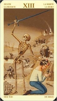 Карта Смерть из колоды Таро Брейгеля