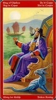 Карта Король Чаш из колоды Таро Драконов