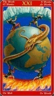 Карта Мир из колоды Таро Драконов