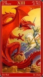 Карта Смерть из колоды Таро Драконов