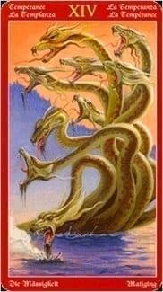 Карта Умеренность (Воздержание) из колоды Таро Драконов
