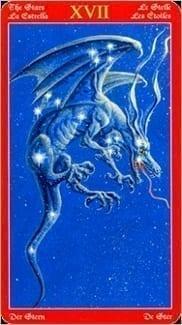 Карта Звезда из колоды Таро Драконов