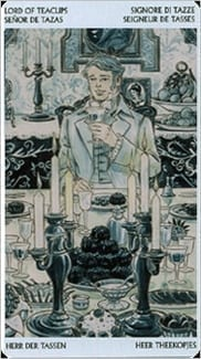 Карта Король Чаш из колоды Таро Джейн Остин