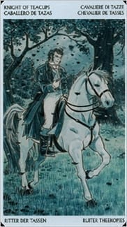 Карта Рыцарь Чаш из колоды Таро Джейн Остин