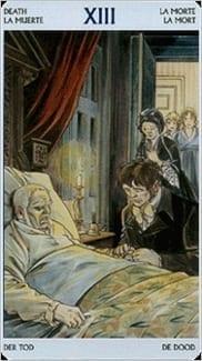 Карта Смерть из колоды Таро Джейн Остин