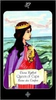 Карта Королева Чаш из колоды Таро Эра Водолея