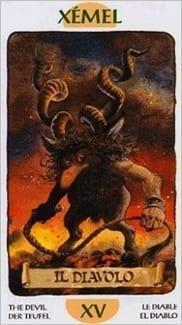 Карта Карта Дьявол из колоды  Таро Гномов