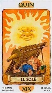 Карта Солнце из колоды Таро Гномов