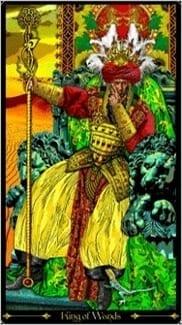 Карта Король Жезлов из колоды Таро Иллюминатов