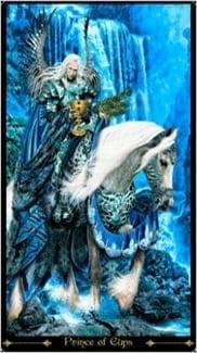 Карта Рыцарь Чаш из колоды Таро Иллюминатов