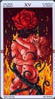 Карта Карта Дьявол из колоды  Таро Колесо Года
