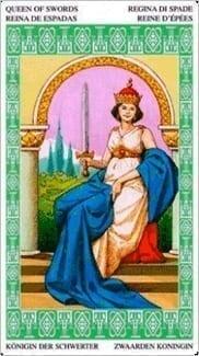 Карта Королева Мечей из колоды Таро Ленорман