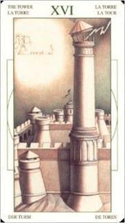 Карта Башня из колоды Таро Леонардо Да Винчи
