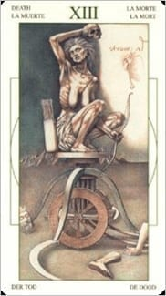Карта Смерть из колоды Таро Леонардо Да Винчи