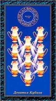 Карта Девятка Чаш из колоды Таро Магических Симвлов
