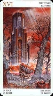 Карта Башня из колоды Таро Мистерии Авалона
