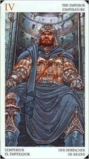 Карта Император из колоды Таро Мистерии Авалона
