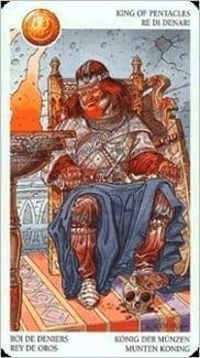Карта Король Пентаклей из колоды Таро Мистерии Авалона