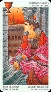 Карта Королева Чаш из колоды Таро Мистерии Авалона