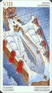 Карта Правосудие (Справедливость) из колоды Таро Мистерии Авалона