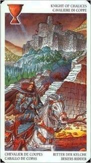 Карта Рыцарь Чаш из колоды Таро Мистерии Авалона