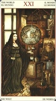 Карта Мир из колоды Таро Мона Лиза