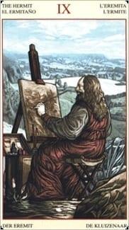 Карта Отшельник из колоды Таро Мона Лиза