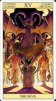 Карта Дьявол из колоды Таро Нового Видения