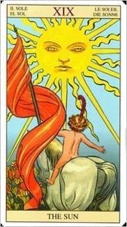 Карта Солнце из колоды Таро Нового Видения