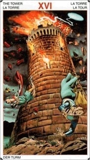Карта Башня из колоды Таро Ордена Золотой Зари