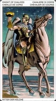 Карта Король Чаш из колоды Таро Ордена Золотой Зари