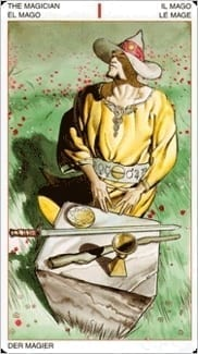 Карта Маг из колоды Таро Ордена Золотой Зари
