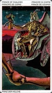 Карта Рыцарь Чаш из колоды Таро Ордена Золотой Зари