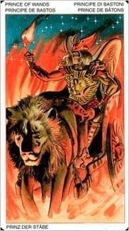 Карта Рыцарь Жезлов из колоды Таро Ордена Золотой Зари
