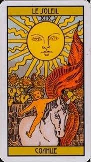 Карта Солнце из колоды Таро Оскара Вайлда