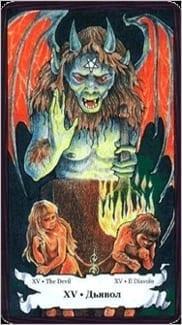Карта Карта Дьявол из колоды  Таро Порог Вечности