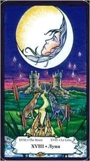 Карта Луна из колоды Таро Порог Вечности