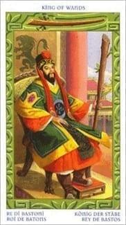 Карта Король Жезлов из колоды Таро Путешествие на Восток