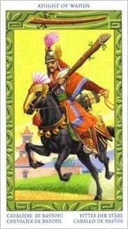 Карта Рыцарь Жезлов из колоды Таро Путешествие на Восток
