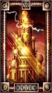 Карта Башня из колоды Таро Снов
