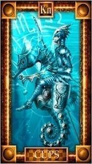 Карта Рыцарь Чаш из колоды Таро Снов